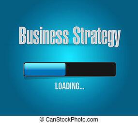 chargement, barre,  Business, stratégie,  concept, signe