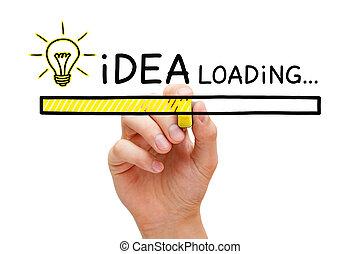 chargement,  concept, barre, idée