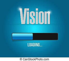 chargement,  concept, barre,  vision, signe