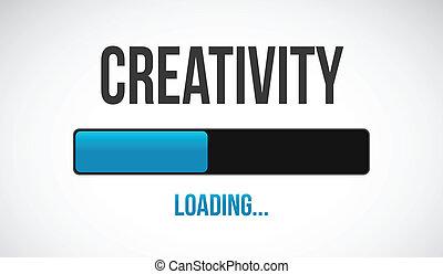 chargement, conception, illustration, créatif