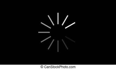 chargement, en mouvement, animation., progrès, cercle, bar., résumé, circle., alpha, channel.