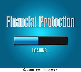 chargement, financier,  protection, signe,  concept, barre
