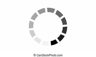 chargement, fond, icône, blanc, channel., animation, cercle, alpha