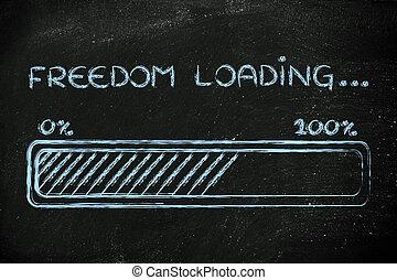 chargement, liberté,  progess,  Illustration, barre