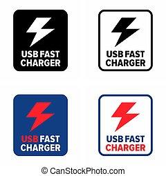 "charger"", 速い, ""usb, 付属品, 技術, モビール"