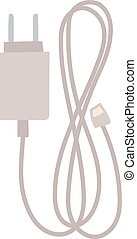 Charger vector flat icon. - Phone harger vector flat icon....