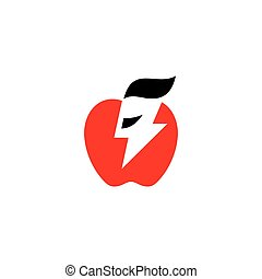 Charging apple vector sign - Branding Identity Corporate ...