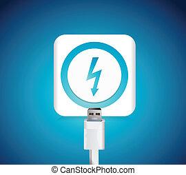 charging battery illustration design