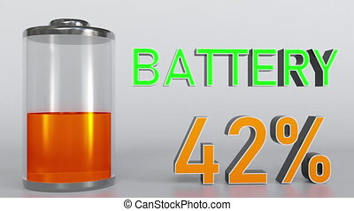 Charging battery indicator