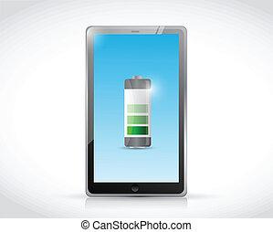 charging tablet illustration design