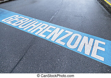 charging zone in the city, symbol of municipal...