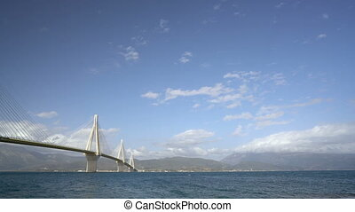 Charilaos Trikoupis bridge Rio-Antirio in Greece, Patras