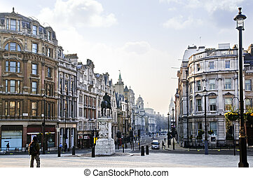 Charing Cross in London - View of Charing Cross in London at...
