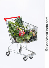 chariot, image, supermarché