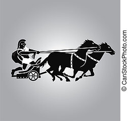 Chariot Logo - Chariot type of horse carriage, used in both...