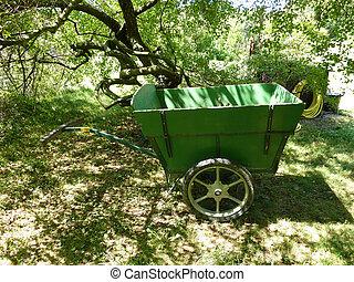 chariot, vert, nature