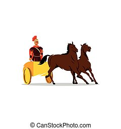 Chariot with a Roman gladiator sign. - Branding Identity...