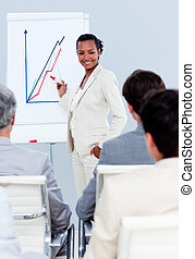 charismatic, プレゼンテーション, 女性実業家