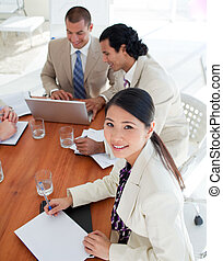 Charismatic business people in a meeting in the office