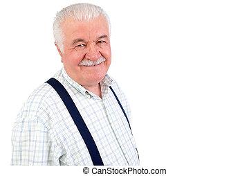 Charismatic friendly senior man