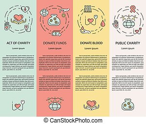 Charity and donation banners