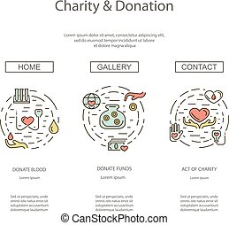 Charity and donation set