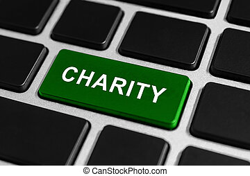 charity button on keyboard