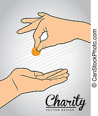 charity design over gray background vector illustration