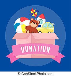 charity donation box with toys