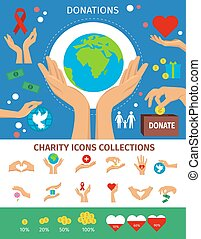 Charity Flat Isolated Concept