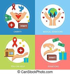 Charity Flat Poster Set