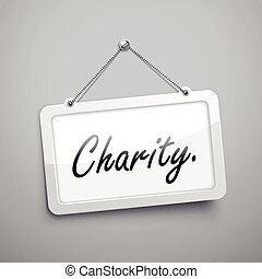charity hanging sign