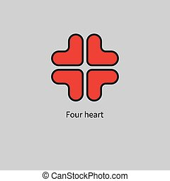 icon with red hearts
