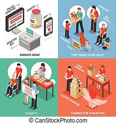 Charity Isometric 2x2 Design Concept