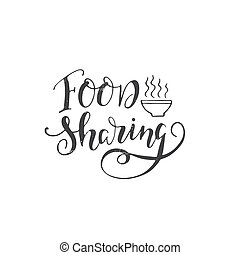 Charity lettering poster