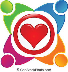 Charity people community vector- People symbols working as team