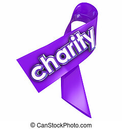 Charity Ribbon Fundraiser Awareness Non-Profit Worthy Cause