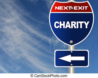 Charity road sign