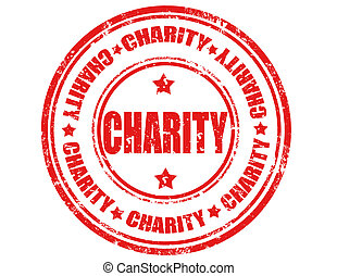 Charity-stamp - Grunge rubber stamp with word Charity,vector...