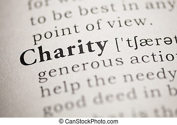 Charity - Fake Dictionary, Dictionary definition of the word...