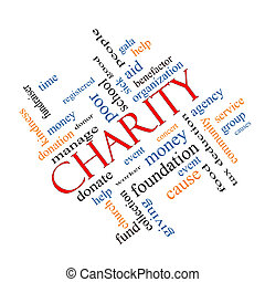 Charity Word Cloud Concept Angled