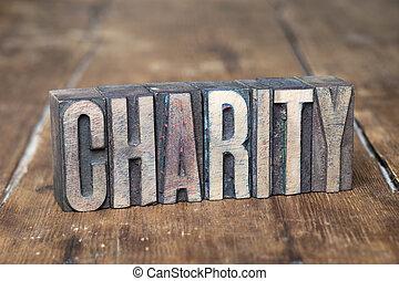 charity word wood