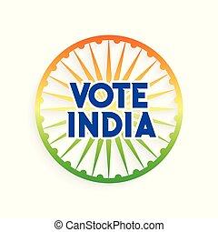 charkra, bandera india, colores, indio, voto