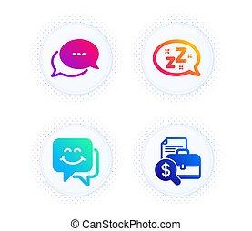 charla, vector, sueño, set., puntos, informe, contabilidad, ...