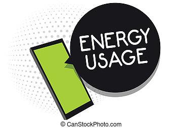 charlas, información, concepto, proceso, texto, energía, mensajes, sistema, o, teléfono celular, significado, utilizado, applications., escritura, utilizar, cantidad, receiving, consumido, usage.