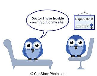 charlatão, timidez, doutor