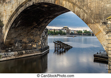 Charles Bridge and a view of the Old Town