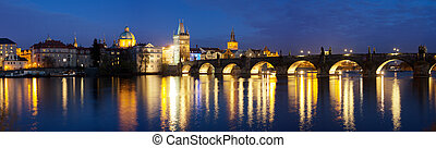 Charles Bridge in the Prague - View of the Lesser Bridge ...