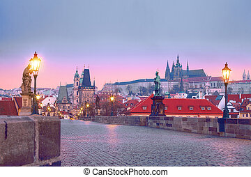 Charles bridge (Karluv Most). Prague landmarks