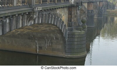 Charles Bridge Pillars in Prague. - Medieval build Charles...